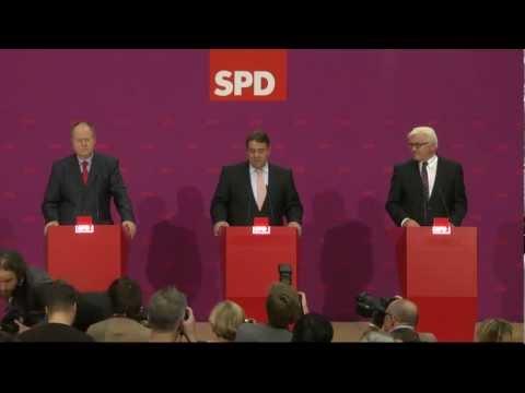 Vorstellung Peer Steinbrück als Kanzlerkandidat - Pressekonferenz im Willy-Brandt-Haus