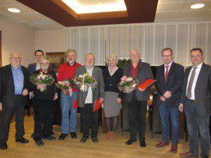 v.l.: Walter Sinzig, Christian Pospischil; Helmut Zimmermann; Michael Schmitz; Ulrich Zimmer; Petra Crone; Peter Höffer; Thomas Gosmann u. Wolfgang Langenohl