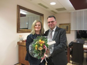 v.l.: Hanna Wurm und Wolfgang Langenohl