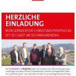 Plakat SPD Herzliche Einladung_Schwalbenohl