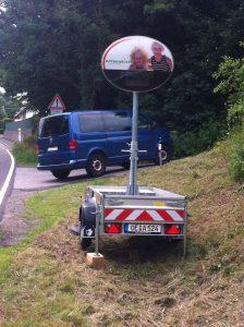 Mobile Geschwindigkeitsdisplays in Attendorn aufgestellt