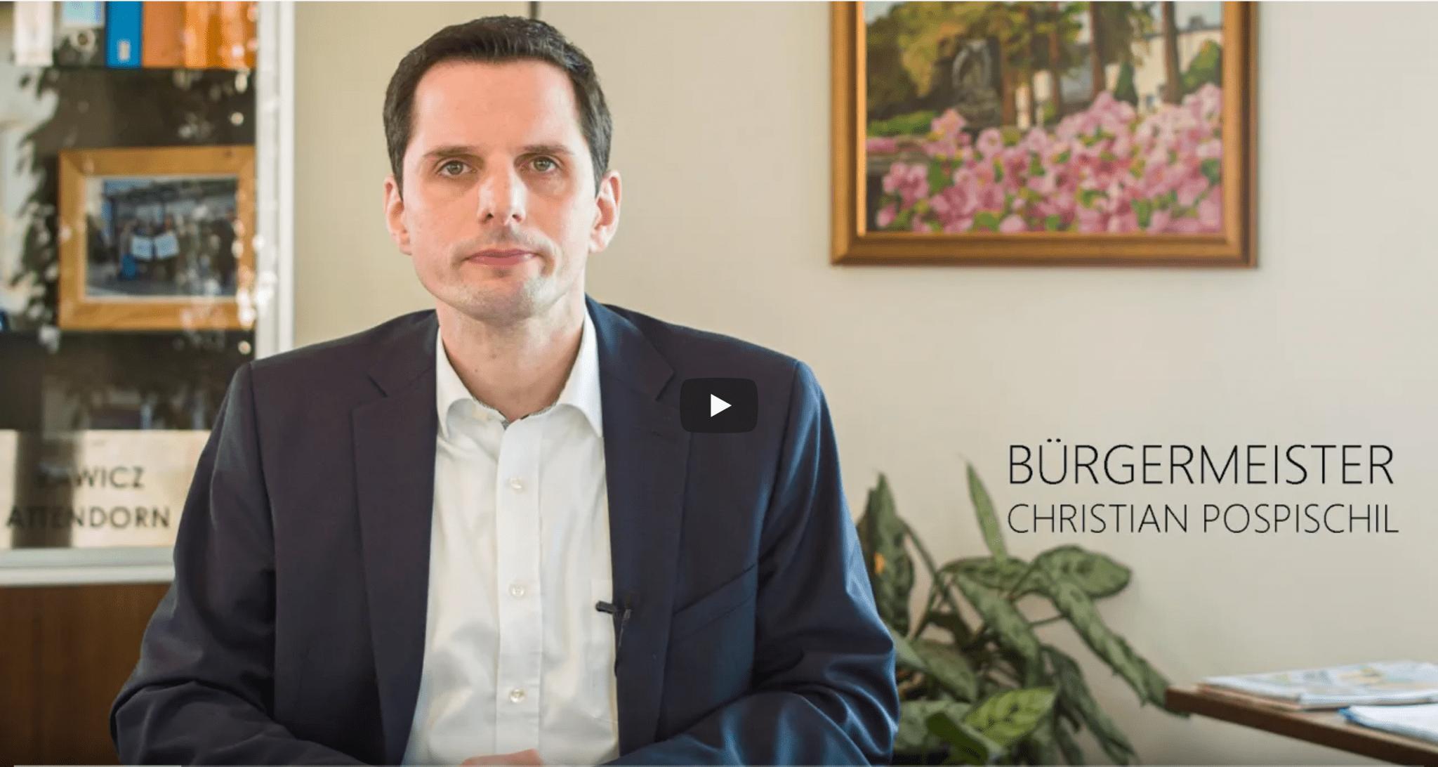 Corona-Krise 19-03-2020 - Bürgermeister Christian Pospischil -Attendorn